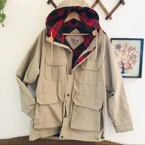 Vintage Plus Wool Lined Utility Hiking Parka Coat